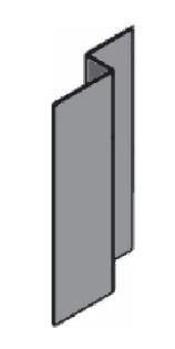 профиль z-образный для вентфасада Primet