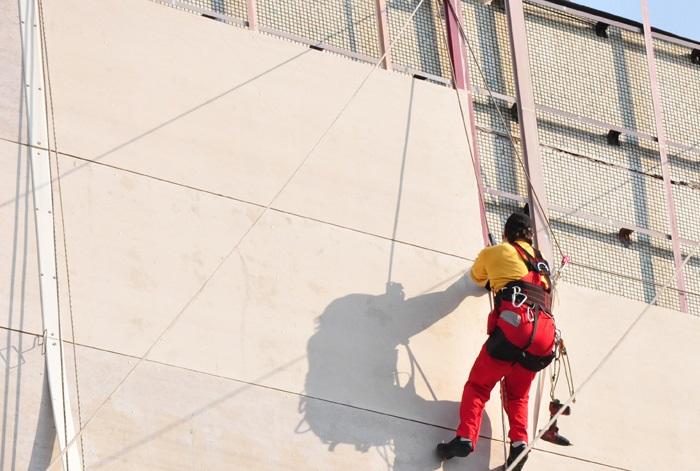 технология монтажа навесного фасада здания