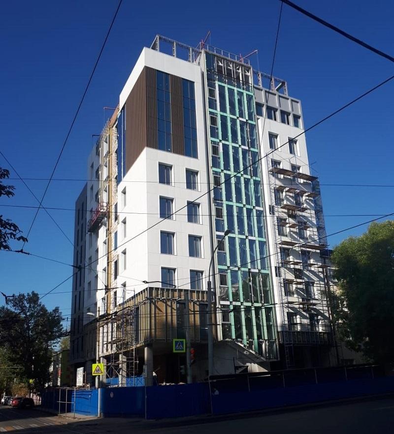 навесные фасады в многоэтажном строительстве