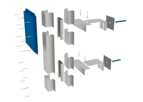 фасадная межэтажная конструкция