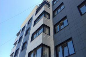 современная архитектура - навесной фасад