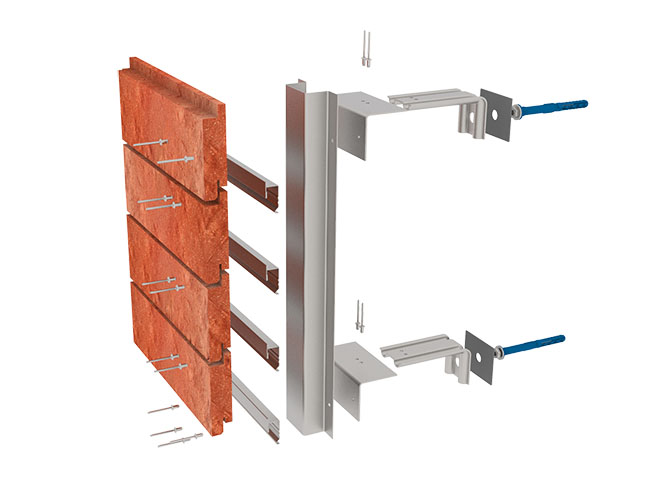 Подсистема Primet из оцинкованной стали для навесных фасадов