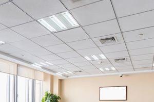 подвесная потолочная система в офис