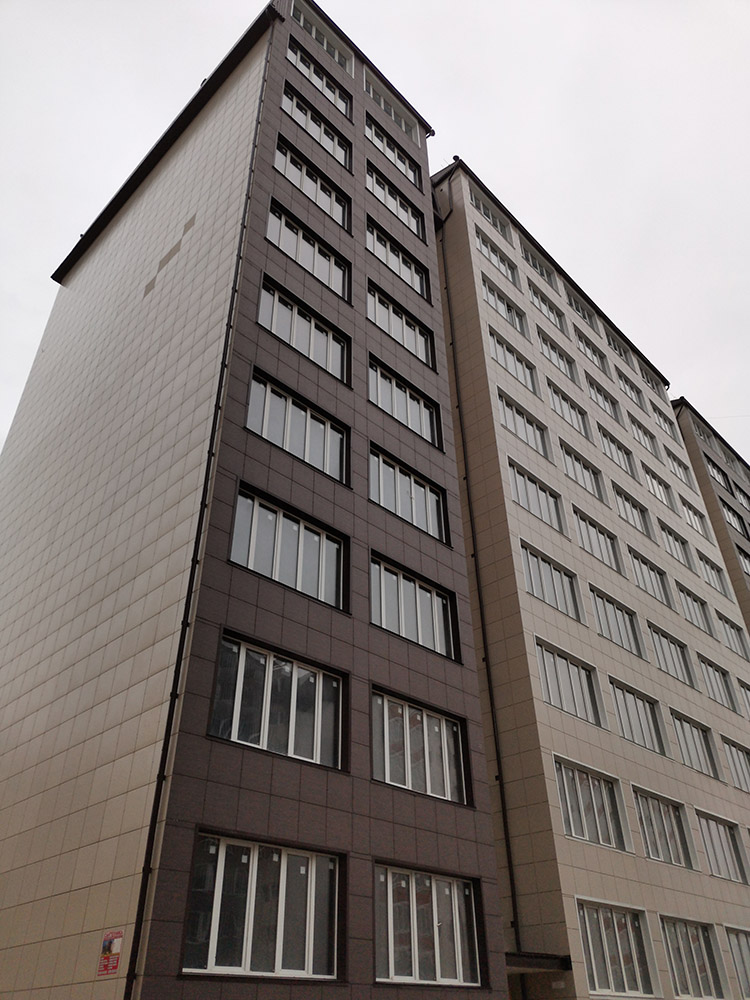 Выбор материалов для наружной отделки многоэтажного здания